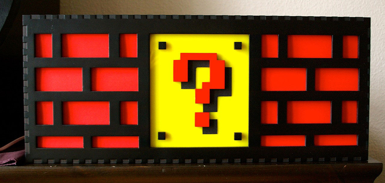 Question Block Brick Lamp From Super Mario Bros. More Images Here